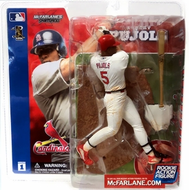 McFarlane Toys MLB Sports Picks Series 1 Action Figure Albert Pujols (St. Louis Cardinals) White Jersey Variant