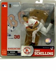 McFarlane Toys MLB Sports Picks Series 10 Action Figure Curt Schilling (Boston Red Sox) White Jersey BLOWOUT SALE!