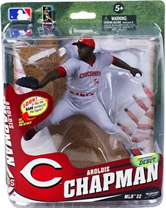 McFarlane Toys MLB Sports Picks Series 32 Action Figure Aroldis Chapman (Cincinnati Reds) Gray Uniform Collector Level Pre-Order Only 350 Made!