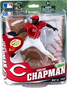McFarlane Toys MLB Sports Picks Series 32 Action Figure Aroldis Chapman (Cincinnati Reds) Red Jersey