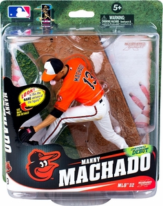 McFarlane Toys MLB Sports Picks Series 32 Action Figure Manny Machado (Baltimore Orioles) Orange Jersey