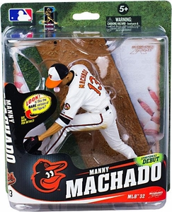 McFarlane Toys MLB Sports Picks Series 32 Action Figure Manny Machado (Baltimore Orioles) White Jersey Collector Level Only 750 Made!