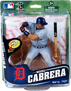 McFarlane Toys MLB Sports Picks Series 32 Action Figure Miguel Cabrera (Detroit Tigers) Black & Brown Bat