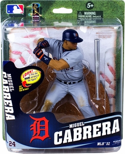 McFarlane Toys MLB Sports Picks Series 32 Action Figure Miguel Cabrera (Detroit Tigers) Silver Slugger Bat Collector Level Only 1,500 Made!