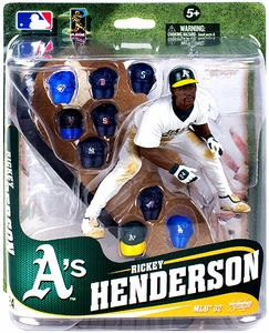 McFarlane Toys MLB Sports Picks Series 32 Action Figure Rickey Henderson (Oakland Athletics) [Multiple Hats] Pre-Order ships April