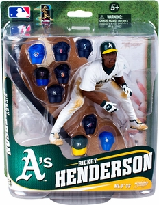 McFarlane Toys MLB Sports Picks Series 32 Action Figure Rickey Henderson (Oakland Athletics) Multiple Hats