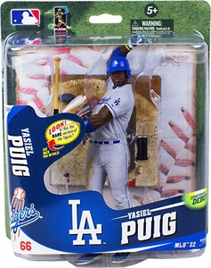 McFarlane Toys MLB Sports Picks Series 32 Action Figure Yasiel Puig (Los Angeles Dodgers) Gray Uniform Collector Level Only 750 Made!