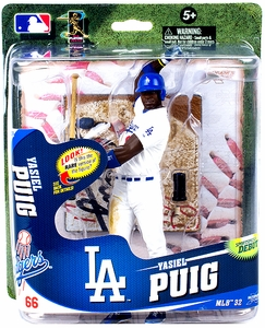 McFarlane Toys MLB Sports Picks Series 32 Action Figure Yasiel Puig (Los Angeles Dodgers)  Pre-Order ships April
