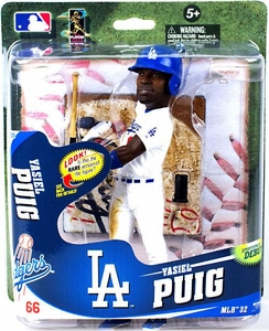 McFarlane Toys MLB Sports Picks Series 32 Action Figure Yasiel Puig (Los Angeles Dodgers) White Uniform, Oversize Head Only 2,000 Made!