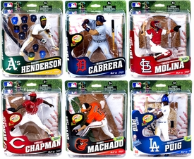 McFarlane Toys MLB Sports Picks Series 32 Set of 6 Action Figures [Miguel Cabrera, Aroldis Chapman, Yadier Molina, Manny Machado, Yasiel Puig, Ricky Henderson] Pre-Order ships April