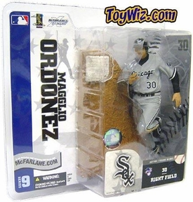 McFarlane Toys MLB Sports Picks Series 9 Action Figure Magglio Ordonez (Chicago White Sox) Gray Jersey Damaged Package, Mint Contents!