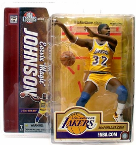 McFarlane Toys NBA Sports Picks Legends Series 2 Action Figure Magic Johnson (Los Angeles Lakers) Yellow Jersey