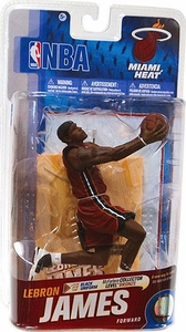 McFarlane Toys NBA Sports Picks Series 19 Action Figure Lebron James (Miami Heat) Red Uniform