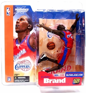 McFarlane Toys NBA Sports Picks Series 2 Action Figure Elton Brand (Los Angeles Clippers) Red Jersey