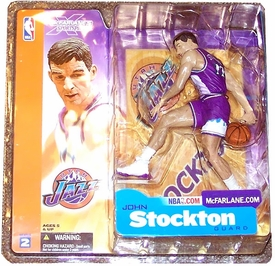McFarlane Toys NBA Sports Picks Series 2 Action Figure John Stockton (Utah Jazz) Purple Jersey Variant