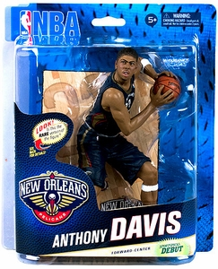 McFarlane Toys NBA Sports Picks Series 24 Action Figure Anthony Davis (New Orleans Pelicans) Blue Uniform Collector Level Only 500 Made!
