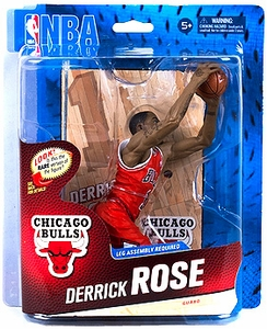 McFarlane Toys NBA Sports Picks Series 24 Action Figure Derrick Rose (Chicago Bulls) Red Uniform