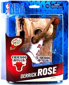 McFarlane Toys NBA Sports Picks Series 24 Action Figure Derrick Rose (Chicago Bulls) White Uniform Collector Level Only 1,250 Made!