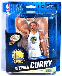 McFarlane Toys NBA Sports Picks Series 24 Action Figure Stephen Curry (Golden State Warriors) White Uniform