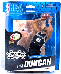 McFarlane Toys NBA Sports Picks Series 24 Action Figure Tim Duncan (San Antonio Spurs) Black Uniform