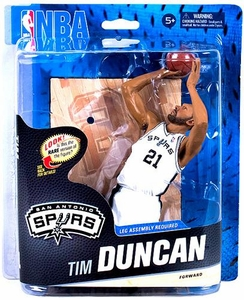 McFarlane Toys NBA Sports Picks Series 24 Action Figure Tim Duncan (San Antonio Spurs) White Uniform Collector Level Only 750 Made!