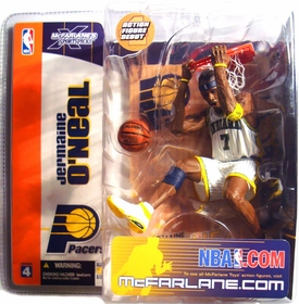 McFarlane Toys NBA Sports Picks Series 4 Action Figure Jermaine O'Neal (Indiana Pacers) White Jersey Variant