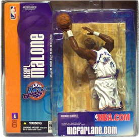 McFarlane Toys NBA Sports Picks Series 6 Action Figure Karl Malone (Utah Jazz) White Utah Jersey