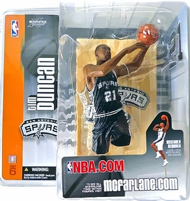 McFarlane Toys NBA Sports Picks Series 6 Action Figure Tim Duncan (San Antonio Spurs) Black Jersey Variant