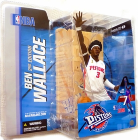 McFarlane Toys NBA Sports Picks Series 7 Action Figure Ben Wallace 2 (Detroit Pistons) White Jersey with Afro Variant