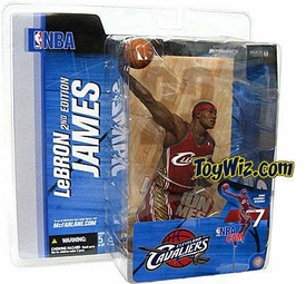 McFarlane Toys NBA Sports Picks Series 7 Action Figure LeBron James (Cleveland Cavaliers) Red Jersey