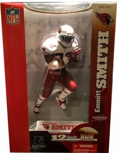 McFarlane Toys NFL Sports Picks 12 Inch Deluxe Action Figure Emmitt Smith (Arizona Cardinals) White Jersey Variant