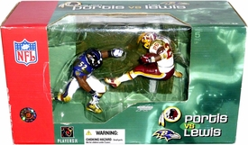 McFarlane Toys NFL Sports Picks Action Figure 2-Pack Ray Lewis (Baltimore Ravens) & Clinton Portis (Washington Redskins)