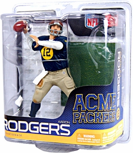 McFarlane Toys NFL Sports Picks Exclusive Action Figure Aaron Rodgers (Acme Packers) Retro Old Scool Uniform