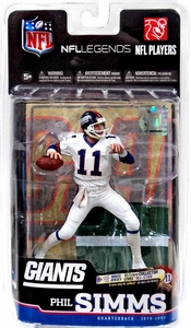 McFarlane Toys NFL Sports Picks Legends Series 6 Action Figure Phil Simms (New York Giants) White Jersey All Star Collector Level Only 100 Made!