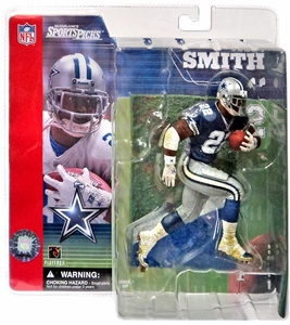McFarlane Toys NFL Sports Picks Series 1 Action Figure Emmitt Smith (Dallas Cowboys) Blue Jersey Variant