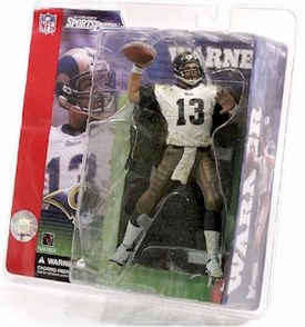 McFarlane Toys NFL Sports Picks Series 1 Action Figure Kurt Warner (St. Louis Rams) White Jersey Clean