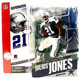 McFarlane Toys NFL Sports Picks Series 11 Action Figure Julius Jones (Dallas Cowboys) Retro Jersey Variant