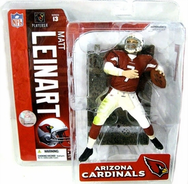 McFarlane Toys NFL Sports Picks Series 13 Action Figure Matt Leinart (Arizona Cardinals)  Red Jersey Chase Piece