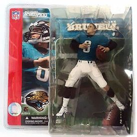 McFarlane Toys NFL Sports Picks Series 2 Action Figure Mark Brunell (Jacksonville Jaguars) Teal Jersey No Helmet Variant