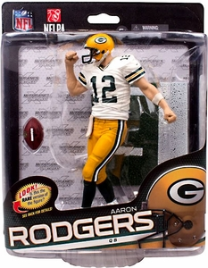 McFarlane Toys NFL Sports Picks Series 34 Action Figure Aaron Rodgers (Green Bay Packers)White Jersey New!