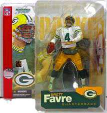 McFarlane Toys NFL Sports Picks Series 4 Action Figure Brett Favre (Green Bay Packers) White Jersey & White Sleeves Variant