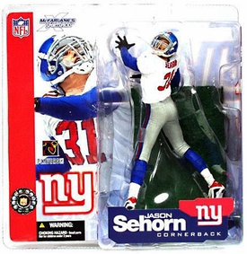 McFarlane Toys NFL Sports Picks Series 4 Action Figure Jason Sehorn (New York Giants) White Jersey