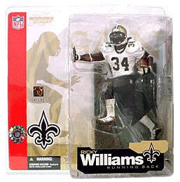 McFarlane Toys NFL Sports Picks Series 4 Action Figure Ricky Williams (New Orleans Saints) Retro Variant