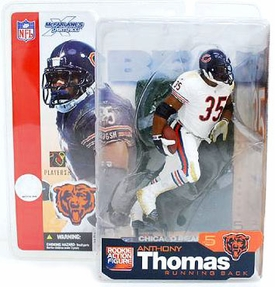 McFarlane Toys NFL Sports Picks Series 5 Action Figure Anthony Thomas (Chicago Bears) White Jersey Variant