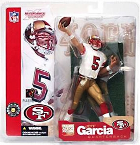 McFarlane Toys NFL Sports Picks Series 5 Action Figure Jeff Garcia (San Francisco 49ers) White Jersey