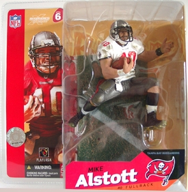 McFarlane Toys NFL Sports Picks Series 6 Action Figure Mike Alstott (Tampa Bay Buccaneers) White Jersey Variant