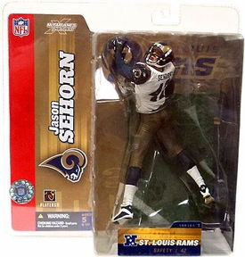 McFarlane Toys NFL Sports Picks Series 7 Action Figure Jason Sehorn (Saint Louis Rams) Rams Variant
