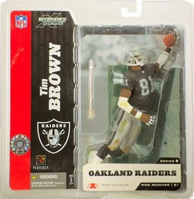 McFarlane Toys NFL Sports Picks Series 8 Action Figure Tim Brown (Oakland Raiders) Black Jersey No Towel Variant