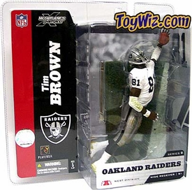 McFarlane Toys NFL Sports Picks Series 8 Action Figure Tim Brown (Oakland Raiders) White Jersey No Towel Variant