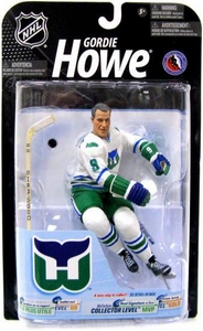 McFarlane Toys NHL Sports Picks Series 23 [2009 Wave 3] Action Figure Gordie Howe (Hartford Whalers) White Jersey Damaged Package, Mint Contents!!